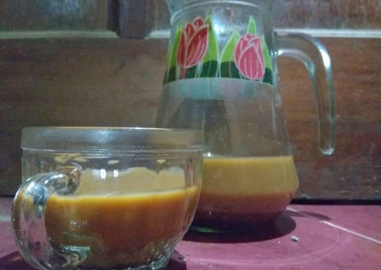 Resep Wedang jahe kopi susu