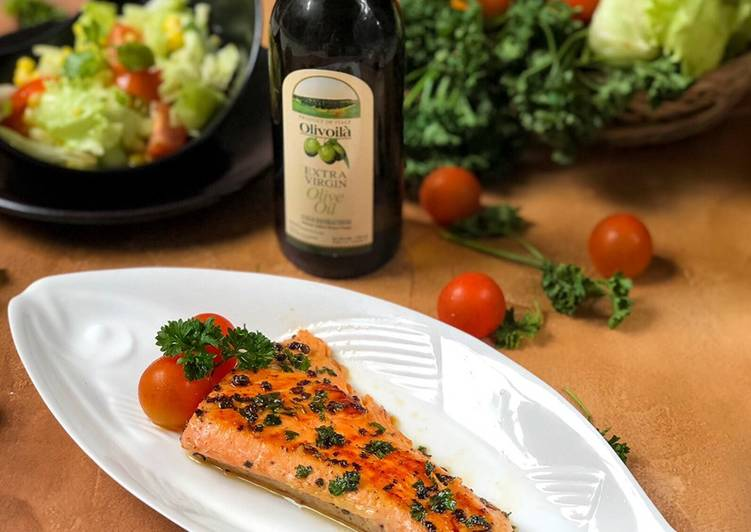 Resep Grilled Salmon with Olive Oil