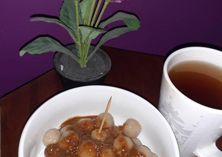 Resep Cilok kanji sosju bumbu pecel