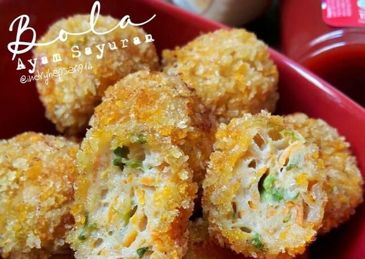 Resep Bola Ayam Sayuran