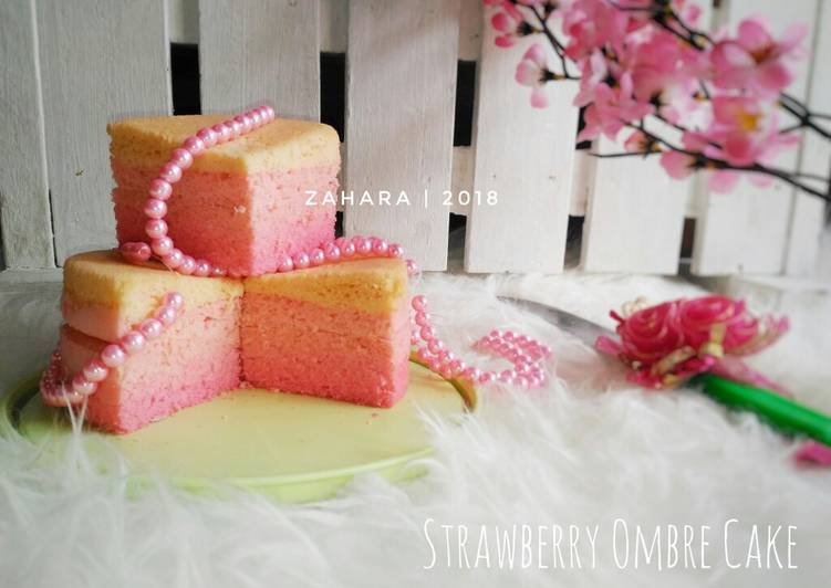 Resep Steamed Strawberry Ombre Cake (Gluten Free) #maree