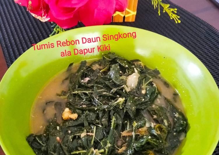 Resep Tumis Rebon Daun Singkong