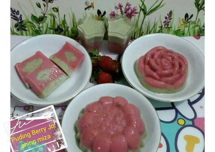 Resep Puding Berry Jo