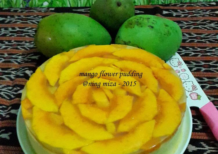 Resep Puding Bunga Mangga (Mango Flower Pudding)