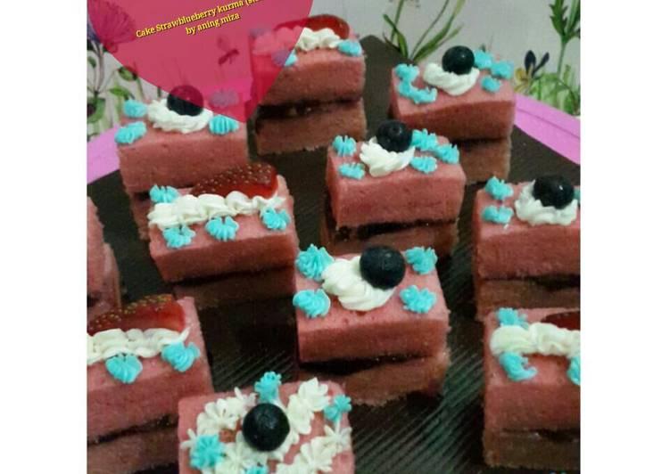 Resep Cake Strawblueberry Kurma (Steamed)