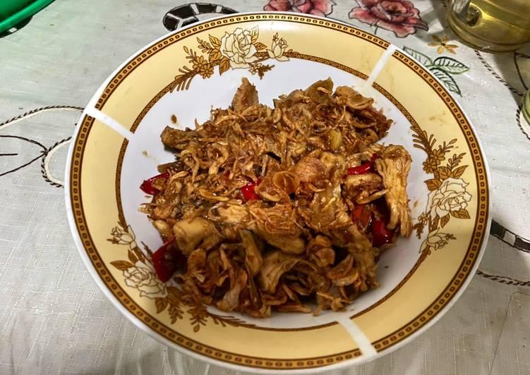 Resep Ayam suwir kecap mancap