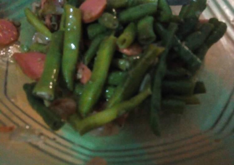 Resep Tumis kacang sosis