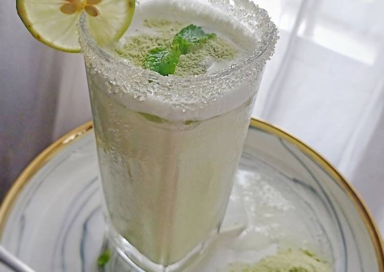 Resep Milkshake green tea latte +mint