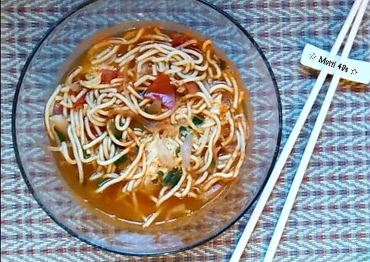 Resep Mie Telur / Ramen Rasa Tomat