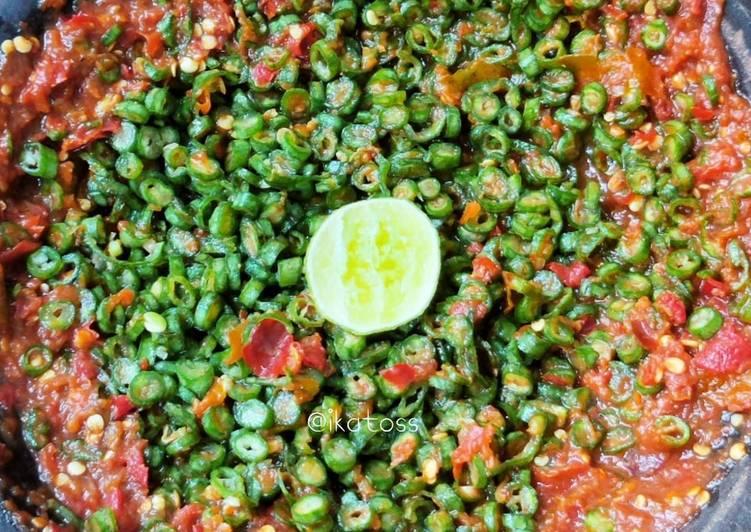 Resep SAMBEL MENTAH kacang panjang