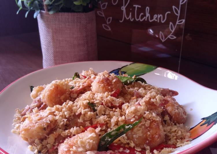Resep Udang Goreng Gandum/ Cereal / Nestum