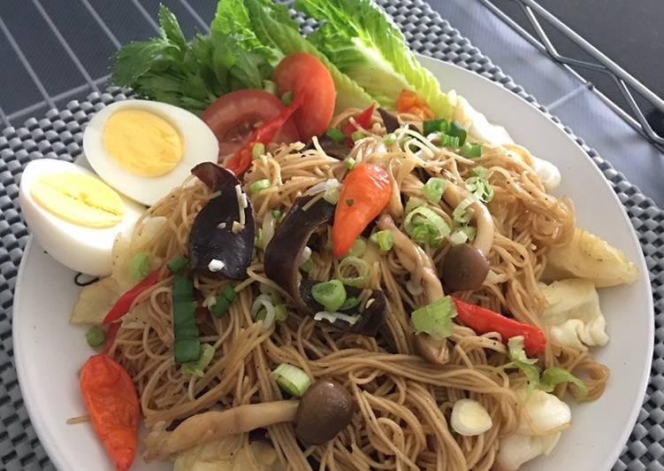 Resep Mie soa goreng sayuran