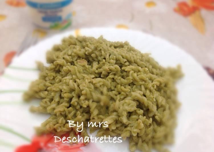 Resep Pasta fresh basil pesto