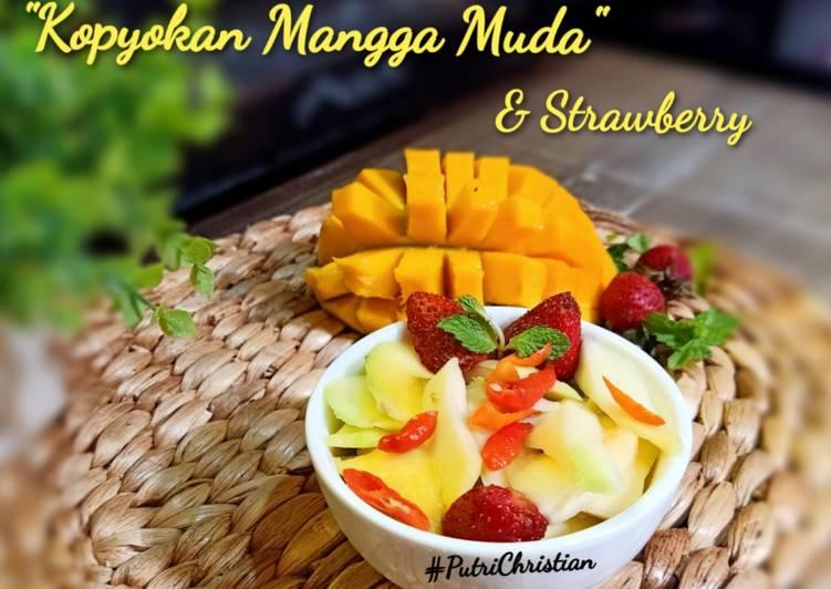 Resep Kopyokan Mangga dan Strawberry
