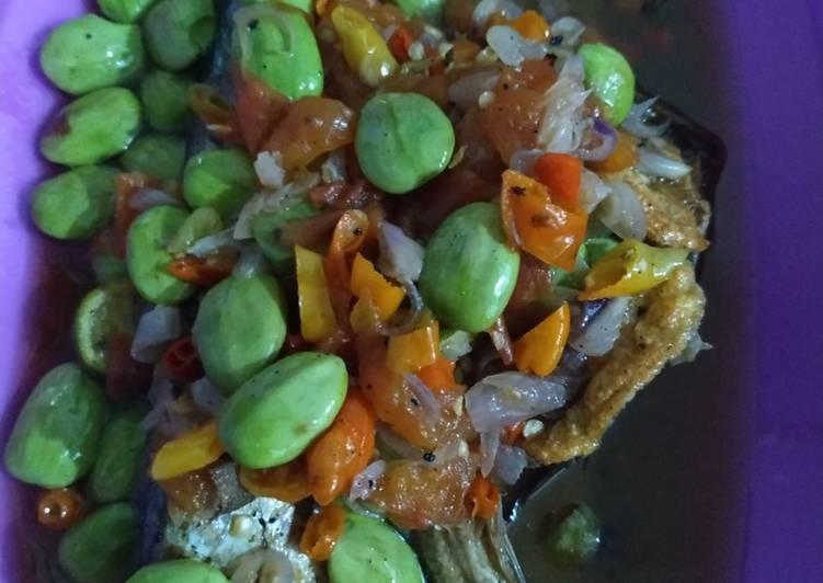 Resep Peda&gabus siram kuah pete pedes