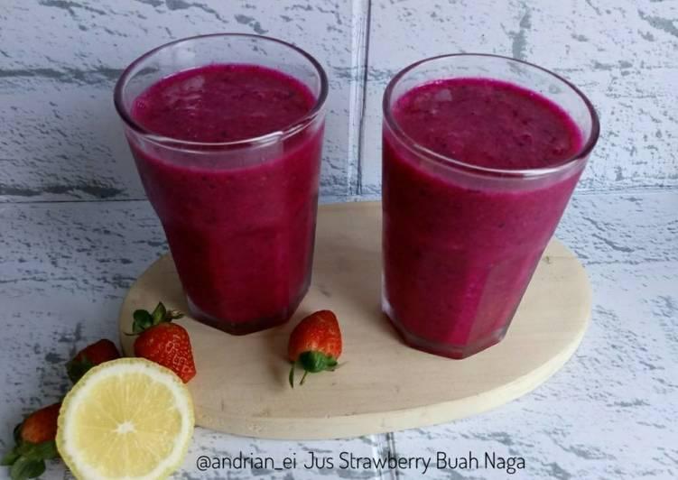Resep Jus Strawberry Buah Naga