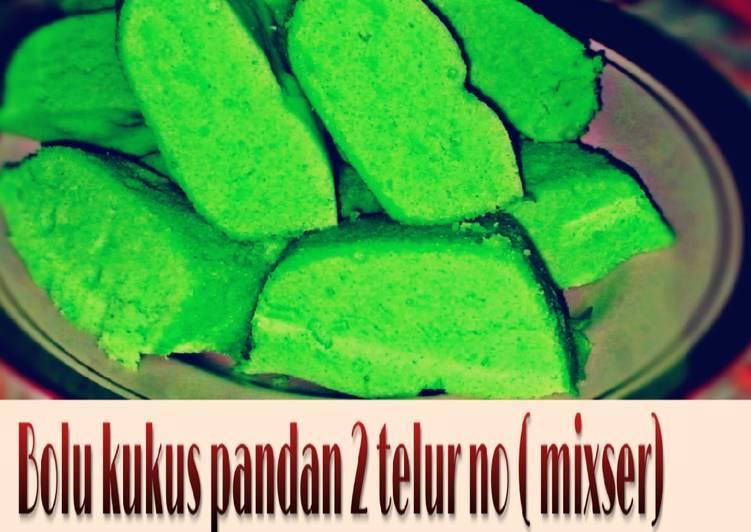 Resep Bolu pandan 2 telur no mixser takaran sendok