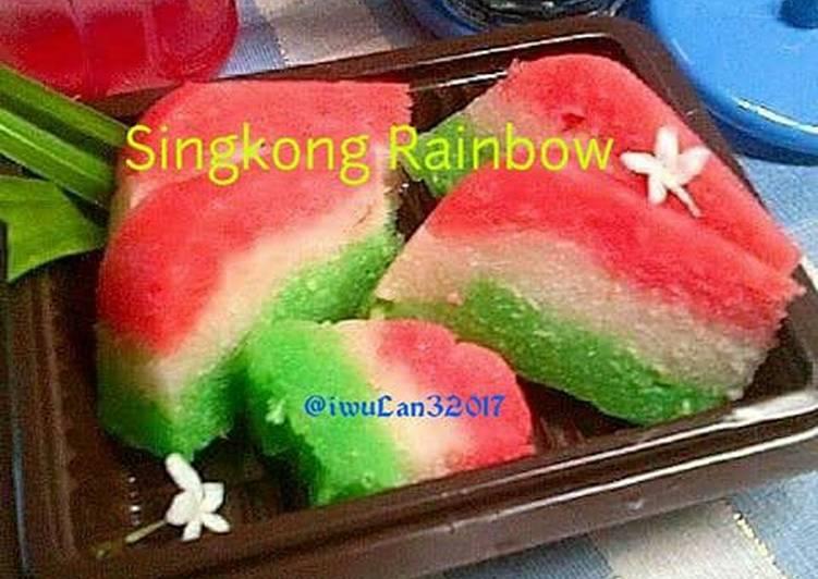 Resep Singkong Rainbow Kukus