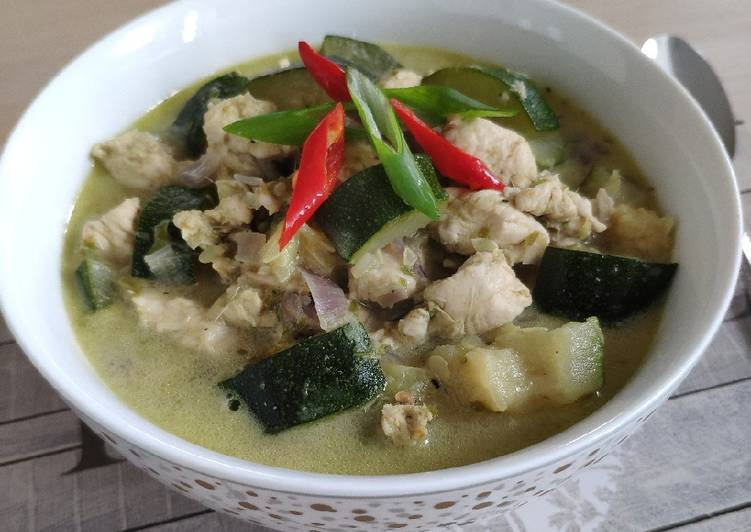 Resep Chicken Green Curry