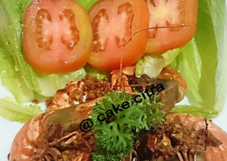Resep Simple Garlic Shrimp