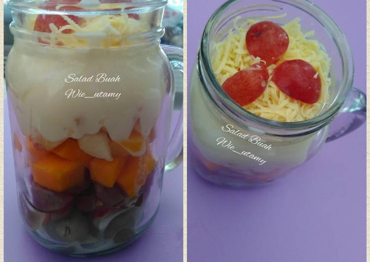 Resep Fruit Salad in Jar / Salad Buah Keju