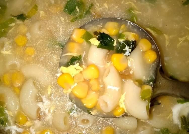 Resep Sup Jagung Makaroni