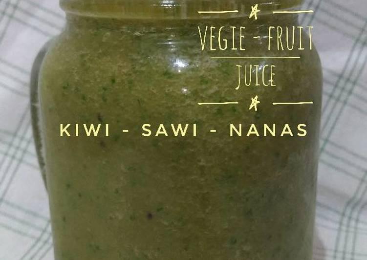 Resep Jus KSN : Kiwi Sawi Nanas
