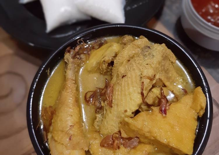 Resep Opor ayam pejantan plus tahu kulit