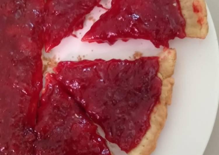 Resep Pie strawberry teflon (strawberry homemade gampang)