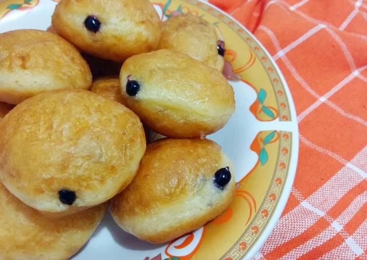 Resep Donat isi selai blueberry