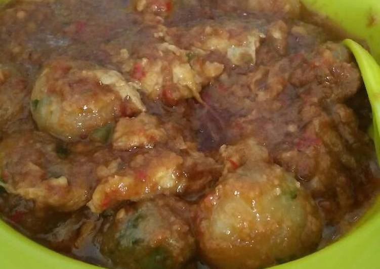 Resep Cilok goreng telur bumbu kacang