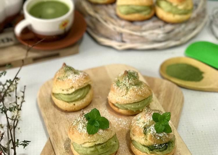 Resep Matcha Choux Pastry