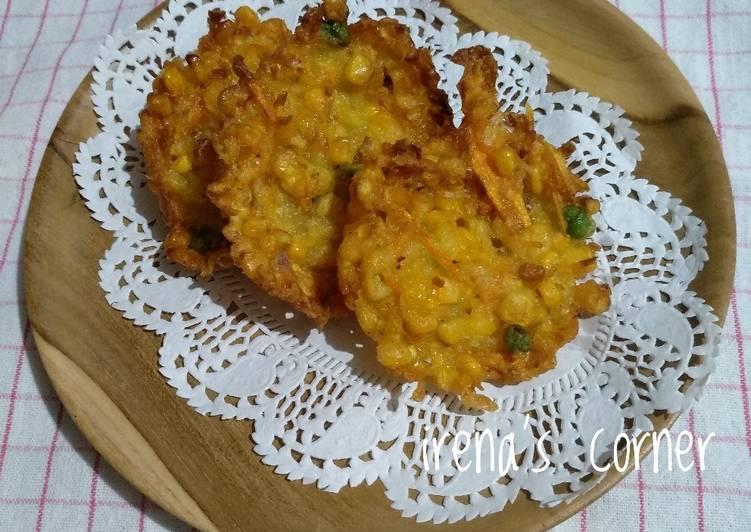 Resep Bakwan jagung kacang polong