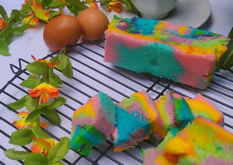 Resep Bolu Air Pelangi (1 telur)