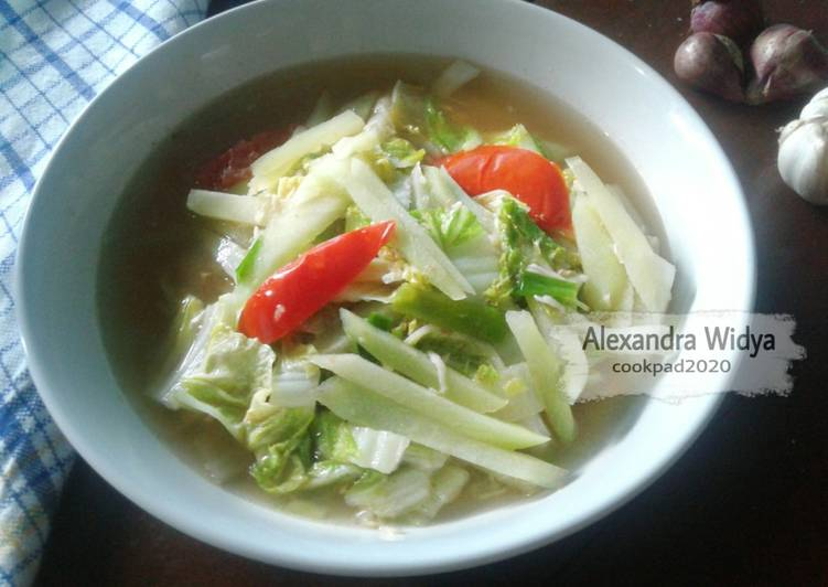Resep Ca Labu Siam & Sawi Putih
