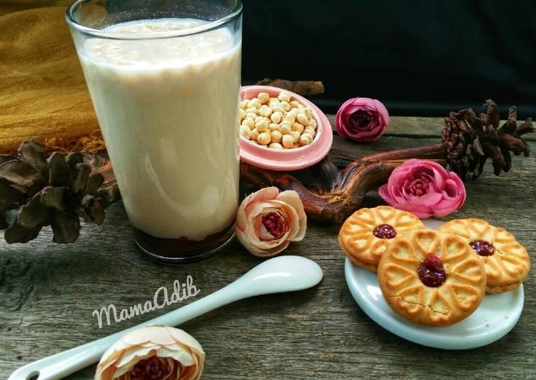 Resep Es susu kacang gula aren