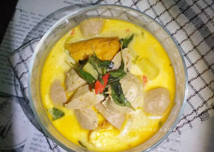 Resep Kari baso tahu kentang #61