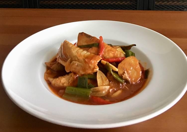 Resep Pindang tongkol masak sarden