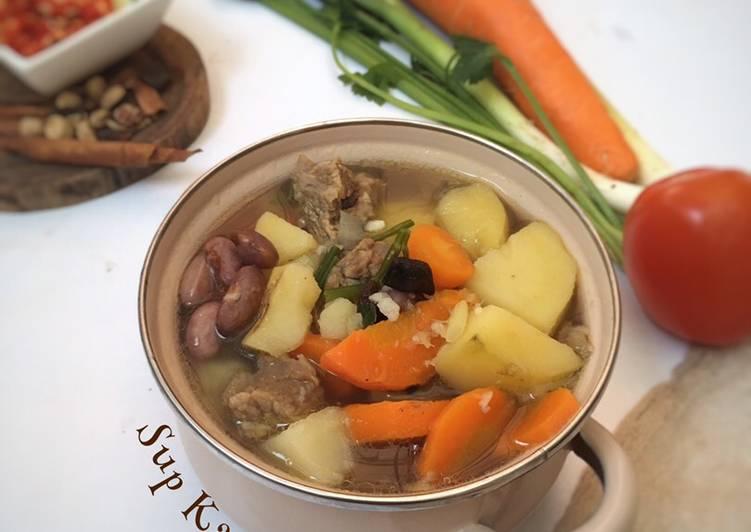 Resep Sup Daging dengan Kacang Merah