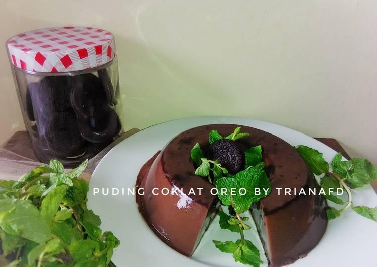 Resep Puding Coklat Oreo #Postingrame2_Puding