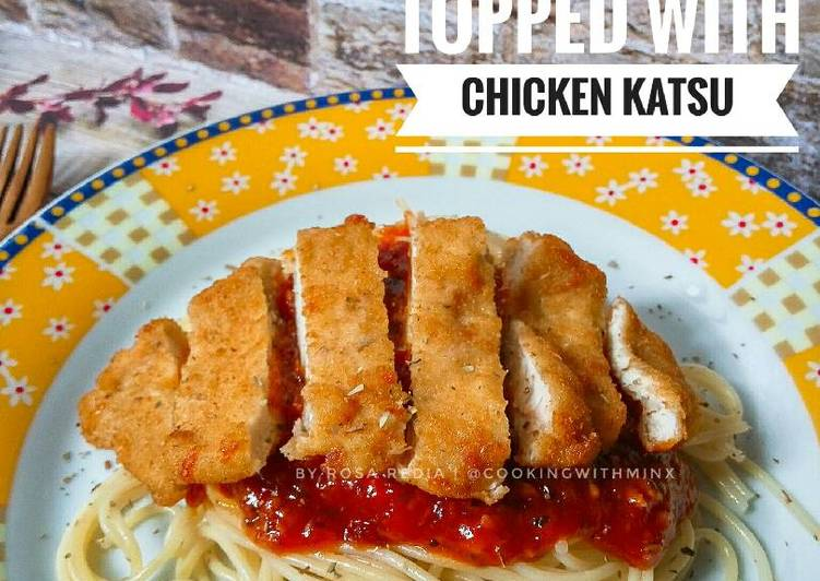 Resep Spaghetti Bolognese with Chicken Katsu