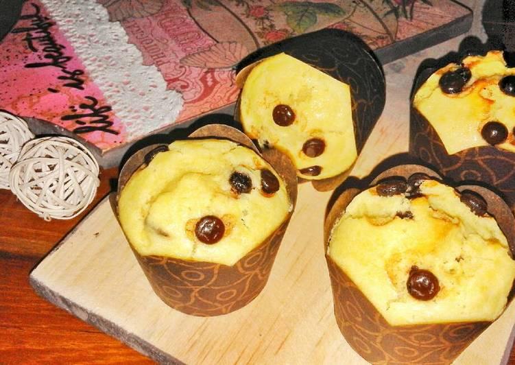 Resep Vanilla chocochips muffin with buttermilk