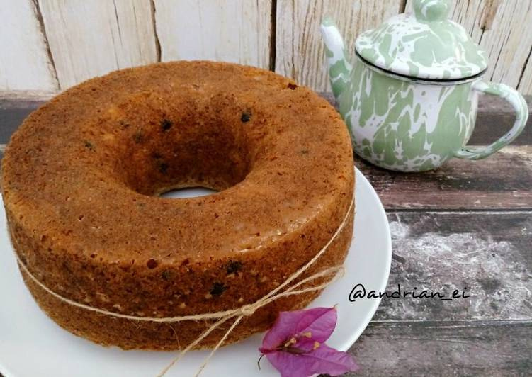Resep Banana Chocochips Cake (Cake Pisang Chocochips Tanpa Mixer)