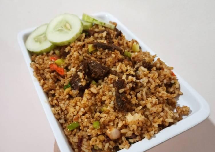 Resep Nasi Goreng Rendang / Nasi Goreng ala anak kost