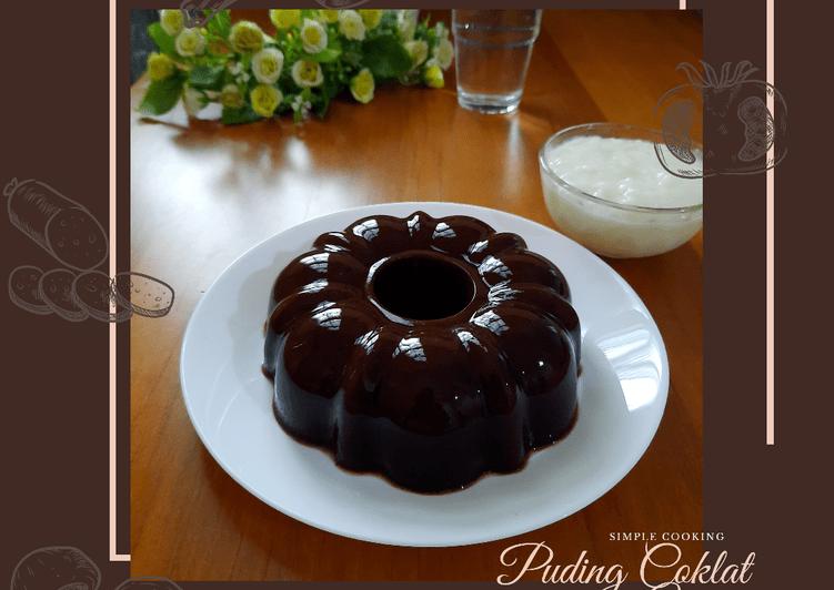 Resep Simple Cooking: Puding Coklat dengan Vla
