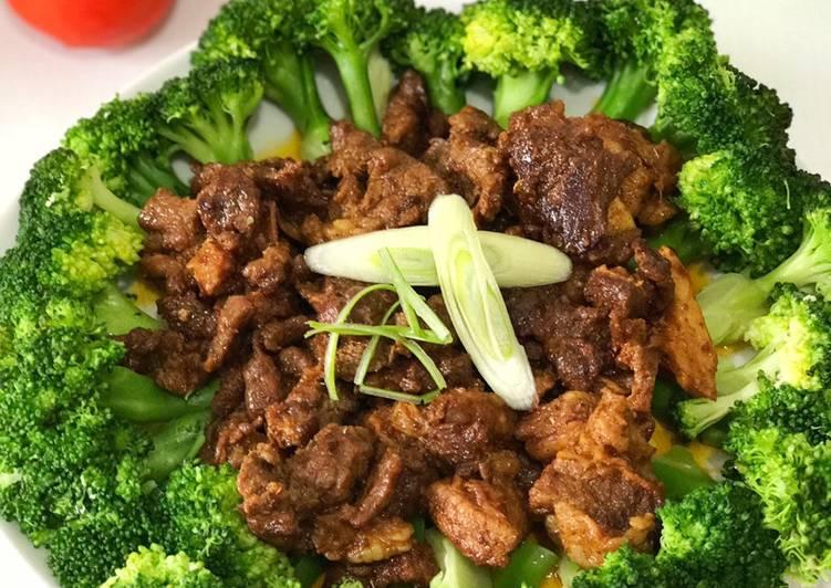 Resep Brocolli onseng daging sapi