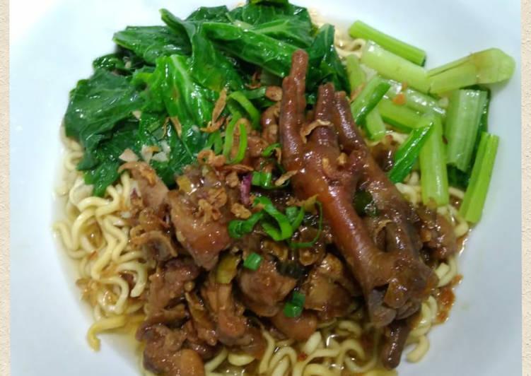 Resep Mie Ayam Ceker recook resep di akun ig @Banususanto