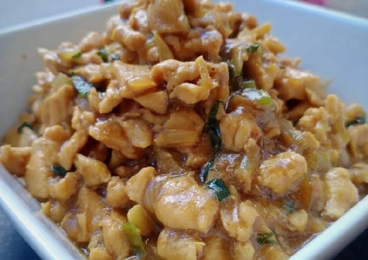 Resep Ayam cincang isian roti