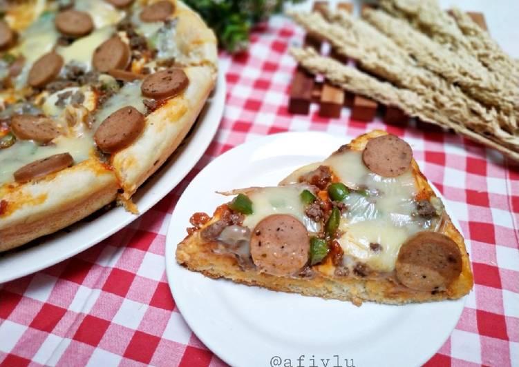 Resep Pizza Teflon Tanpa Ulen - Bisa Oven