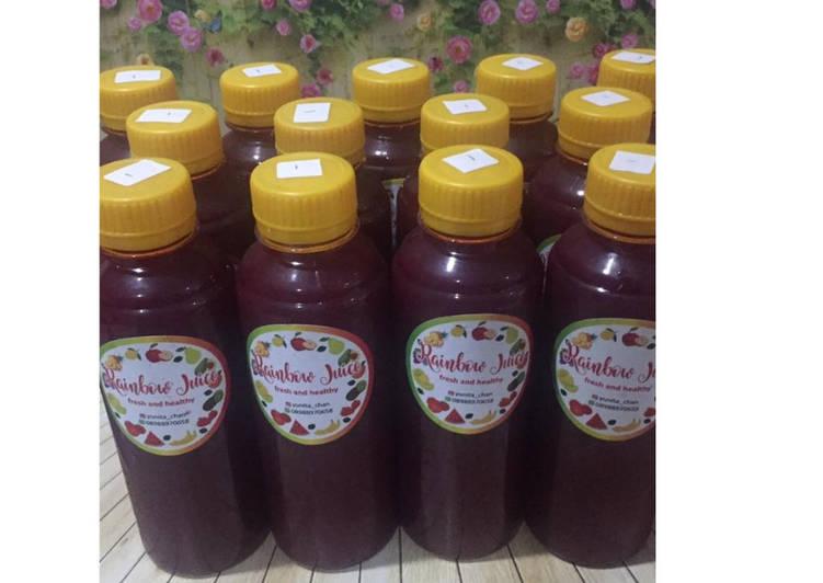 Resep Diet Juice Beetroot Grape Raspberry Kiwi